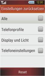 Samsung S5230 Star - Fehlerbehebung - Handy zurücksetzen - Schritt 7