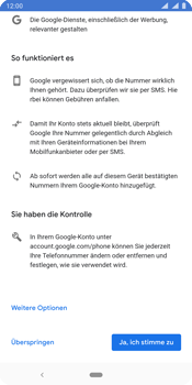 Nokia 9 - Apps - Konto anlegen und einrichten - Schritt 13