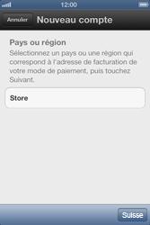 Apple iPhone 4 S - Applications - Créer un compte - Étape 5