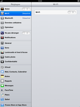 Apple iPad Retina - Réseau - Sélection manuelle du réseau - Étape 5