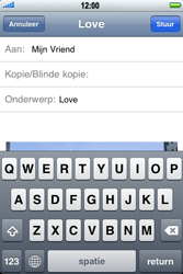 Apple iPhone 3G S - e-mail - hoe te versturen - stap 9