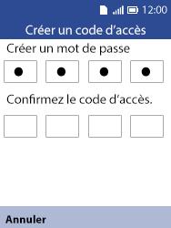 Alcatel 3088X - Sécuriser votre mobile - Activer le code de verrouillage - Étape 8