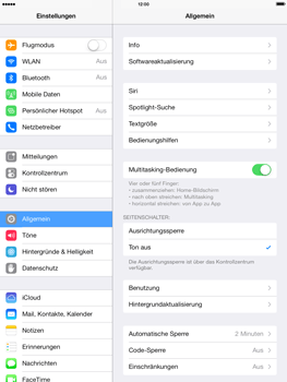 Apple iPad Retina iOS 7 - Apps - Konfigurieren des Apple iCloud-Dienstes - Schritt 14