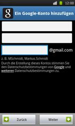 Samsung Galaxy S - Apps - Konto anlegen und einrichten - 7 / 21