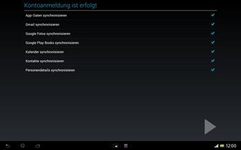 Sony Xperia Tablet Z LTE - Apps - Konto anlegen und einrichten - Schritt 24