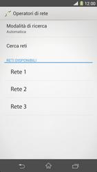 Sony Xperia Z1 - Rete - Selezione manuale della rete - Fase 8