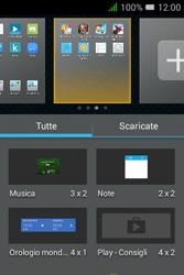 Alcatel Pixi 3 (3.5) - Operazioni iniziali - installazione di widget e applicazioni nella schermata iniziale - Fase 4
