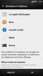 HTC One - Appareil - Réinitialisation de la configuration d