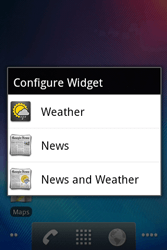 Alcatel OT-983 - Getting started - installing widgets and applications on your start screen - Step 5