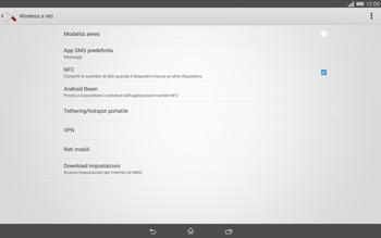 Sony Xperia Tablet Z2 LTE - Internet e roaming dati - Disattivazione del roaming dati - Fase 5