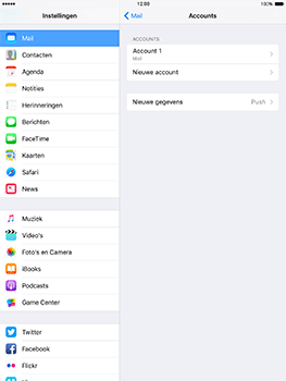 Apple iPad mini 4 iOS 10 - E-mail - e-mail instellen: POP3 - Stap 26