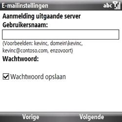 Samsung B7330 Omnia Pro - e-mail - handmatig instellen - stap 12