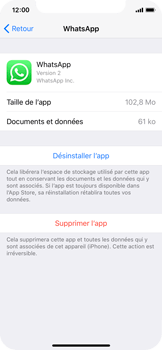 Apple iPhone X - Applications - Comment désinstaller une application - Étape 6
