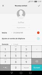 Huawei Nova - Contact, Appels, SMS/MMS - Ajouter un contact - Étape 8