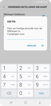Samsung Galaxy S9 (SM-G960F) - Beveiliging en ouderlijk toezicht - Hoe wijzig ik mijn SIM PIN-code - Stap 8