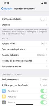 Apple iPhone XS - Internet et roaming de données - Comment vérifier que la connexion des données est activée - Étape 4