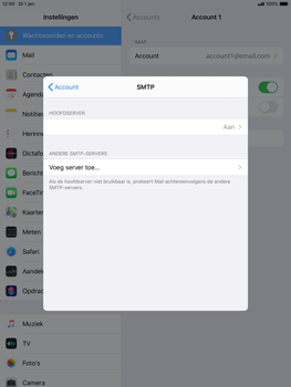 Apple ipad-mini-5-7-9-inch-2019-model-a2124-ipados-13 - E-mail - Instellingen KPNMail controleren - Stap 12