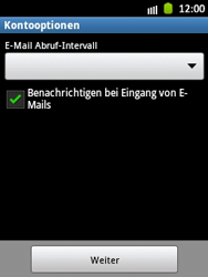 Samsung Galaxy Pocket - E-Mail - Manuelle Konfiguration - Schritt 15
