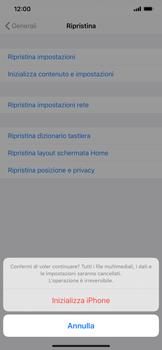 Apple iPhone 11 Pro Max - Dispositivo - Ripristino delle impostazioni originali - Fase 8