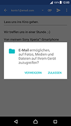 Sony Xperia X Performance - E-Mail - E-Mail versenden - 1 / 1