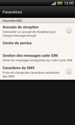 HTC C525u One SV - SMS - configuration manuelle - Étape 7