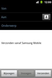 Samsung S7500 Galaxy Ace Plus - E-mail - e-mail versturen - Stap 4