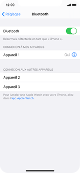 Apple iPhone X - iOS 13 - Bluetooth - connexion Bluetooth - Étape 8