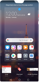 Huawei P20 Pro - Getting started - Installing widgets and applications on your start screen - Step 6