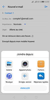 Huawei Mate 10 Pro - E-mails - Envoyer un e-mail - Étape 10