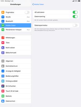Apple iPad Air (2019) - iPadOS 13 - Internet und Datenroaming - Deaktivieren von Datenroaming - Schritt 5
