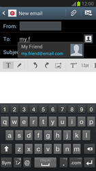 Samsung N7100 Galaxy Note II - E-mail - Sending emails - Step 6