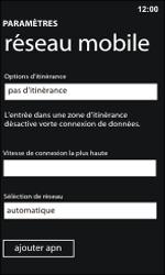Nokia Lumia 800 / Lumia 900 - Réseau - Sélection manuelle du réseau - Étape 5