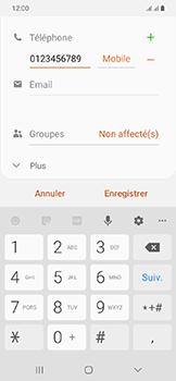 Samsung Galaxy A20e - Contact, Appels, SMS/MMS - Ajouter un contact - Étape 9