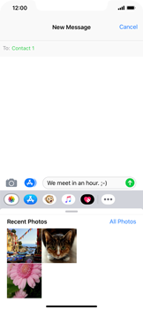 Apple iPhone XR - MMS - Sending a picture message - Step 9