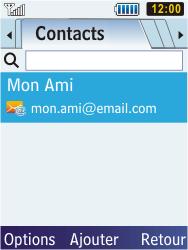 Samsung S5610 Primo - E-mail - envoyer un e-mail - Étape 5