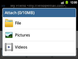 Samsung B5510 Galaxy TXT - E-mail - Sending emails - Step 11