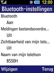 Samsung B550H Xcover 550 - bluetooth - aanzetten - stap 7