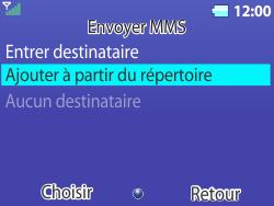 Bouygues Telecom Bc 311 - Contact, Appels, SMS/MMS - Envoyer un MMS - Étape 14