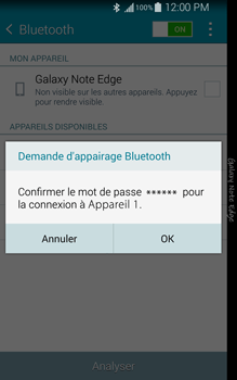 Samsung Galaxy Note Edge - Bluetooth - Jumelage d