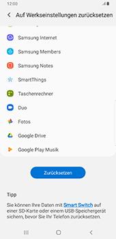 Samsung Galaxy Note9 - Android Pie - Gerät - Zurücksetzen auf die Werkseinstellungen - Schritt 7