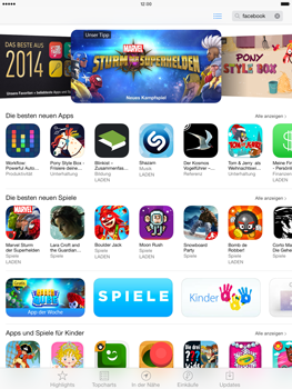 Apple iPad mini iOS 7 - Apps - Nach App-Updates suchen - Schritt 3