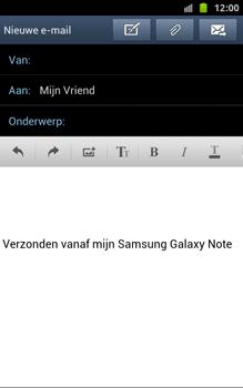 Samsung N7000 Galaxy Note - OS 4 ICS - E-mail - hoe te versturen - Stap 9