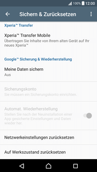 Sony Xperia XA Ultra - Fehlerbehebung - Handy zurücksetzen - 7 / 11