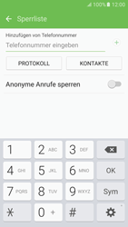 Samsung Galaxy S6 - Anrufe - Anrufe blockieren - 1 / 1
