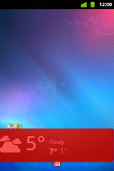 Alcatel OT-983 - Getting started - installing widgets and applications on your start screen - Step 7