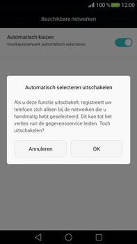 Huawei Mate S - Netwerk - Handmatig een netwerk selecteren - Stap 7