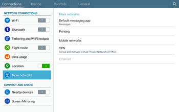 Samsung T535 Galaxy Tab 4 10.1 - Internet and data roaming - Manual configuration - Step 5