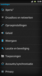 Sony LT26i Xperia S - netwerk en bereik - gebruik in binnen- en buitenland - stap 4