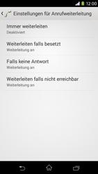 Sony Xperia M2 - Anrufe - Rufumleitungen setzen und löschen - Schritt 6