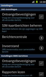 Samsung I9070 Galaxy S Advance - SMS - handmatig instellen - Stap 4